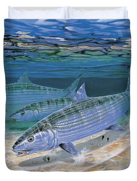 Bonefish Flats In002 Duvet Cover by Carey Chen