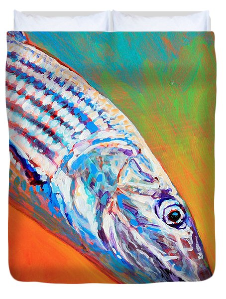 Bonefish Portrait Duvet Cover by Mike Savlen