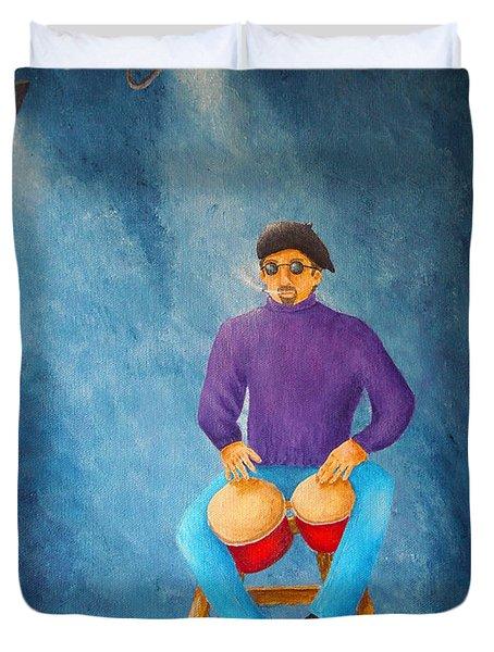 Bongo Man Duvet Cover by Pamela Allegretto