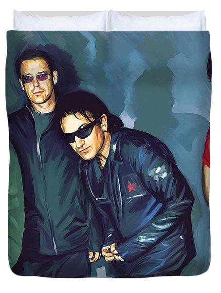 Bono U2 Artwork 5 Duvet Cover by Sheraz A
