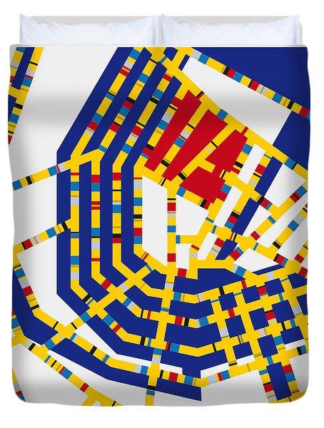 Boogie Woogie Amsterdam Duvet Cover by Chungkong Art