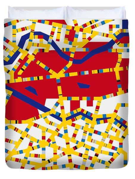Boogie Woogie Berlin Duvet Cover by Chungkong Art