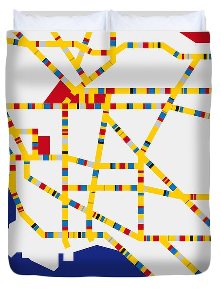 Boogie Woogie Los Angeles Duvet Cover by Chungkong Art