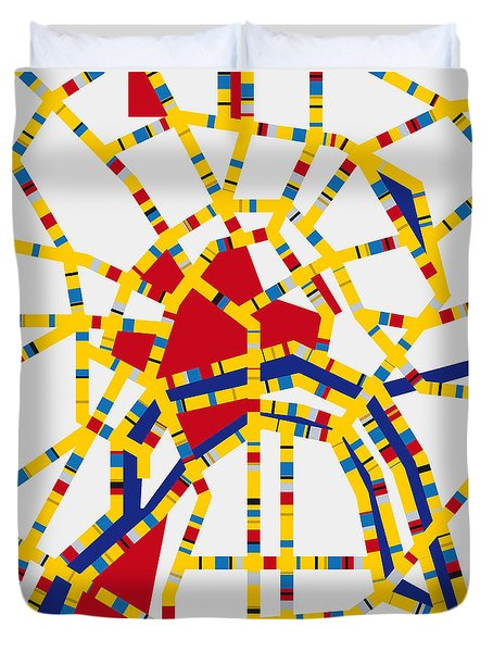 Boogie Woogie Moscow Duvet Cover by Chungkong Art