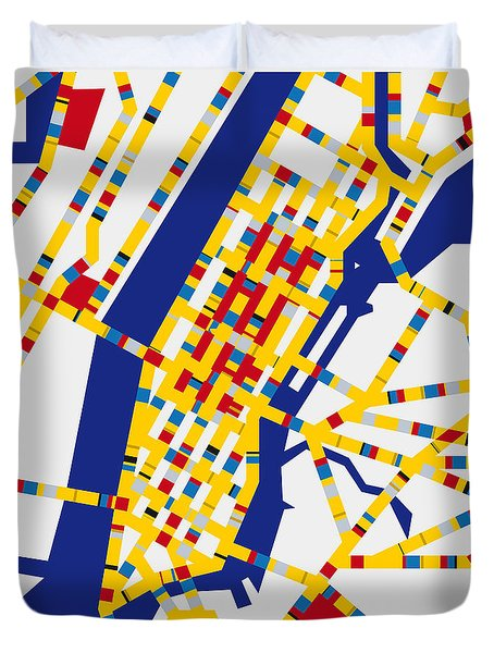 Boogie Woogie New York Duvet Cover by Chungkong Art