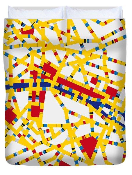 Boogie Woogie Paris Duvet Cover by Chungkong Art