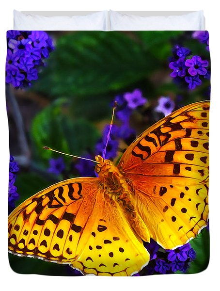 Boothbay Butterfly Duvet Cover by Bill Caldwell -        ABeautifulSky Photography