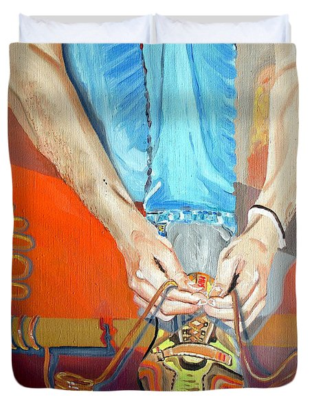 Bootlace Duvet Cover by Daniel Janda