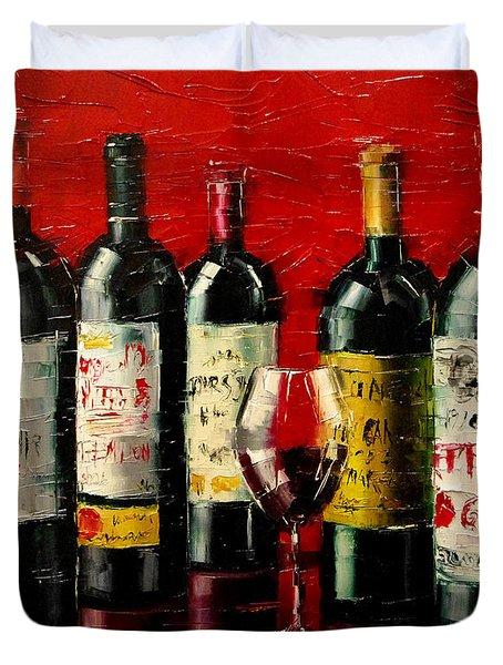 Bordeaux Collection Duvet Cover by Mona Edulesco
