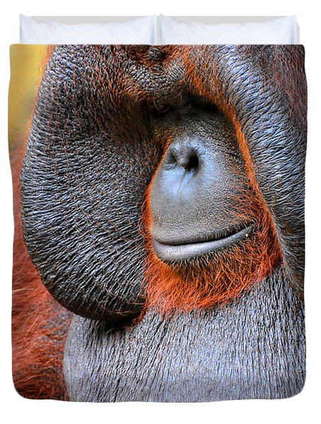 Bornean Orangutan Vi Duvet Cover by Lourry Legarde