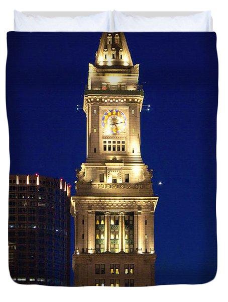 Boston Custom House Duvet Cover by Joann Vitali