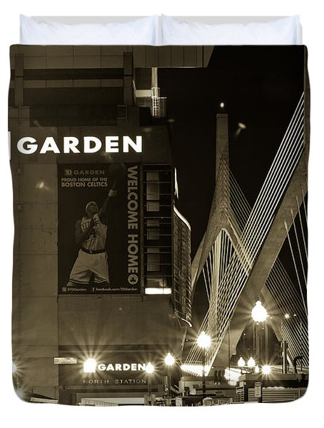 Boston Garder and Side Street Duvet Cover by John McGraw
