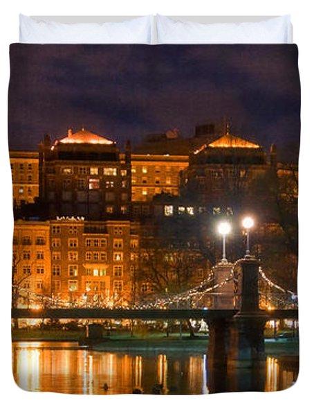 Boston Lagoon Bridge 2 Duvet Cover by Joann Vitali