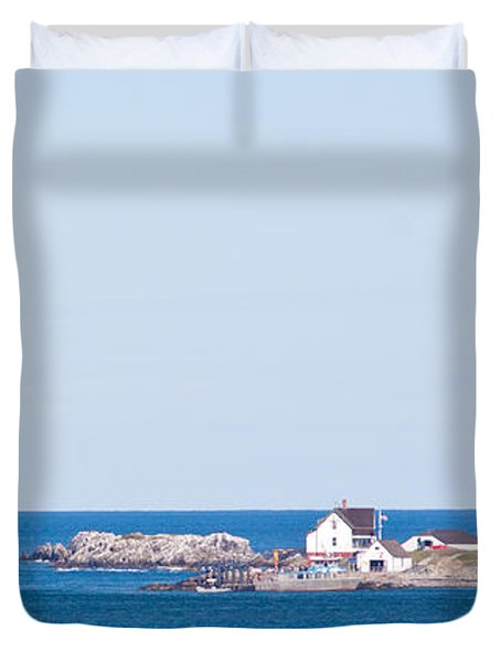 Boston Lighthouse Duvet Cover by Nomad Art And  Design
