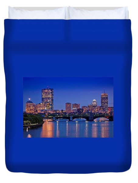 Boston Nights 2 Duvet Cover by Joann Vitali