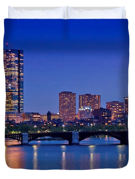 Boston Nights 2 Duvet Cover by Joann Vitali