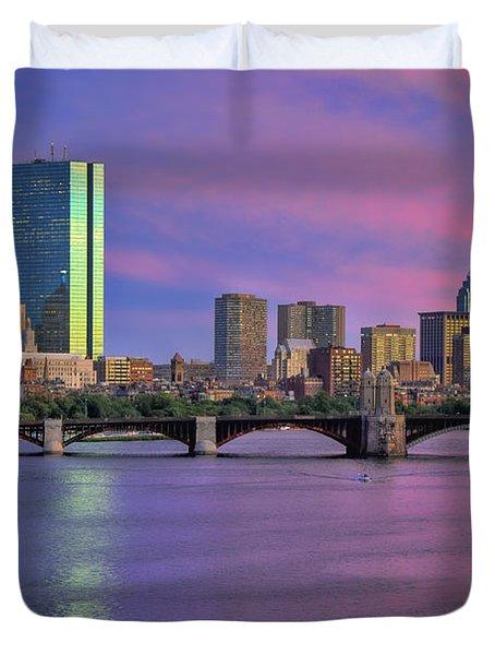 Boston Pastel Sunset Duvet Cover by Joann Vitali