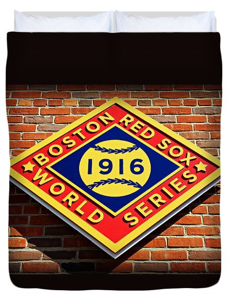 Boston Red Sox 1916 World Champions Duvet Cover by Stephen Stookey