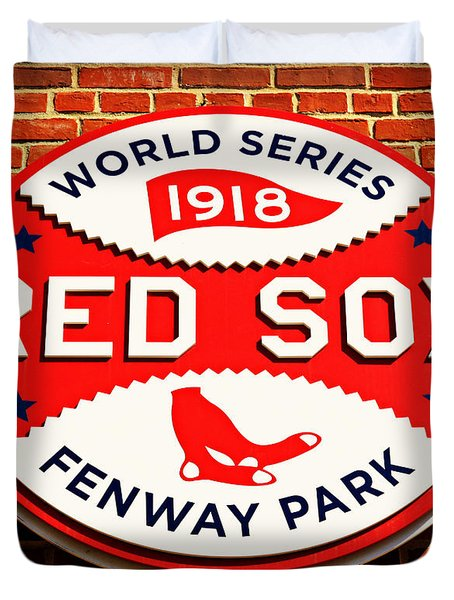 Boston Red Sox World Series Champions 1918 Duvet Cover by Stephen Stookey