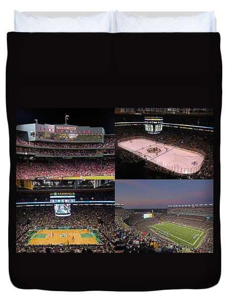 Boston Sports Teams and Fans Duvet Cover by Juergen Roth