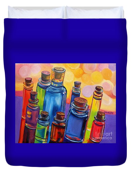 Bottled Rainbow Duvet Cover by Julie Brugh Riffey