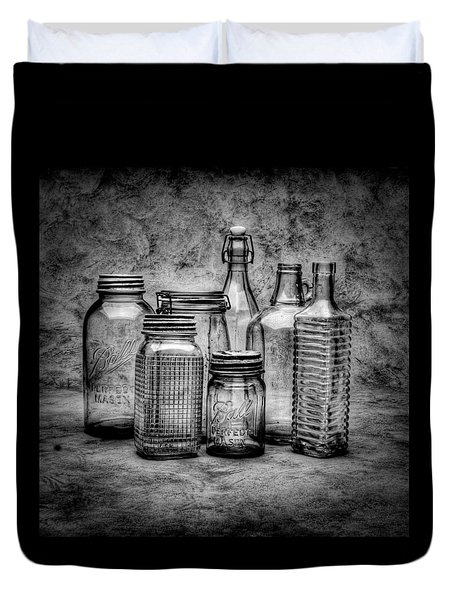 Bottles Duvet Cover by Timothy Bischoff