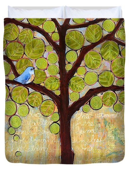 Boughs In Leaf Tree Duvet Cover by Blenda Studio