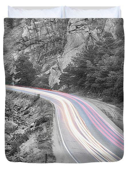 Boulder Canyon Drive And Selective Commute  Duvet Cover by James BO  Insogna