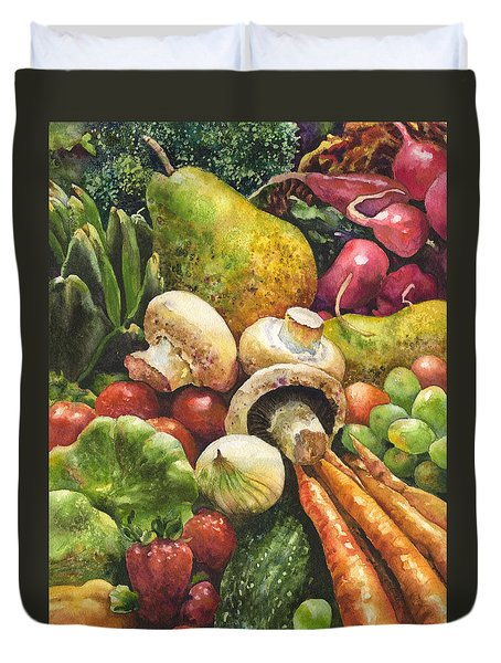 Bountiful Duvet Cover by Anne Gifford