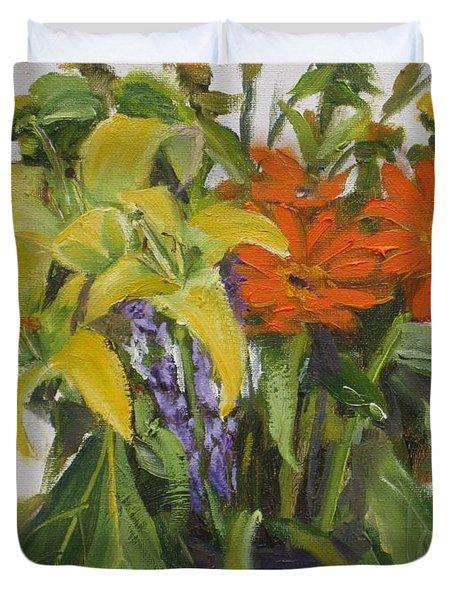 Bouquet Duvet Cover by Mohamed Hirji