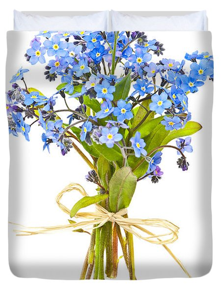 Bouquet Of Forget-me-nots Duvet Cover by Elena Elisseeva