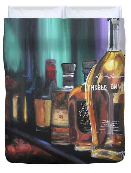 Bourbon Bar Duvet Cover by Donna Tuten