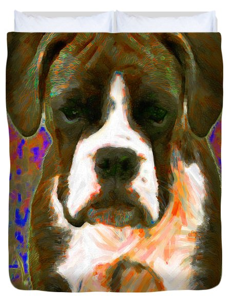 Boxer 20130126v1 Duvet Cover by Wingsdomain Art and Photography