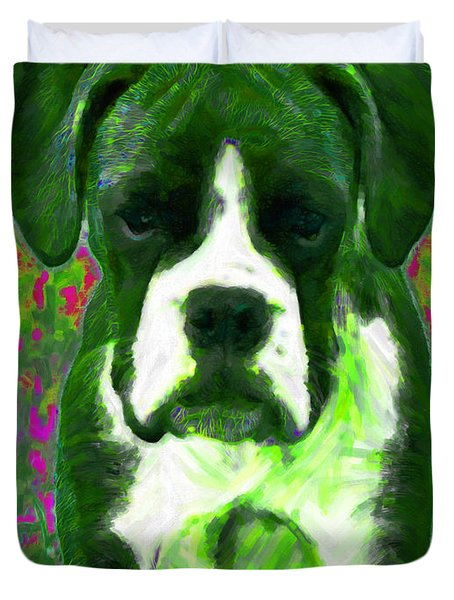 Boxer 20130126v3 Duvet Cover by Wingsdomain Art and Photography