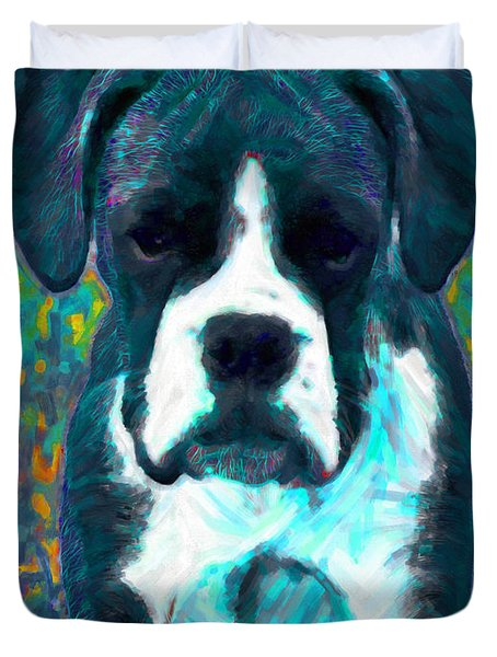 Boxer 20130126v4 Duvet Cover by Wingsdomain Art and Photography