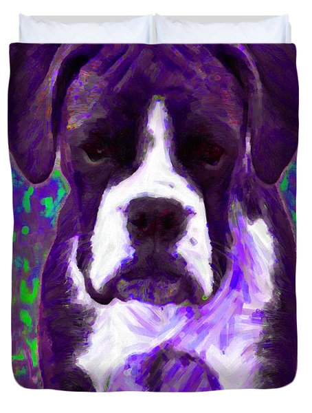 Boxer 20130126v6 Duvet Cover by Wingsdomain Art and Photography