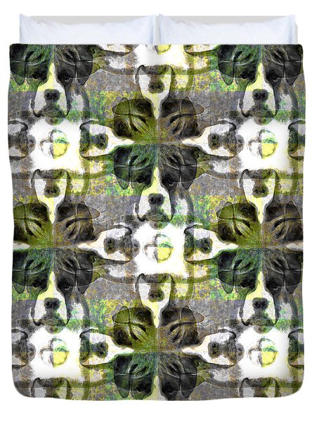 Boxer Abstract 20130126v1 Duvet Cover by Wingsdomain Art and Photography