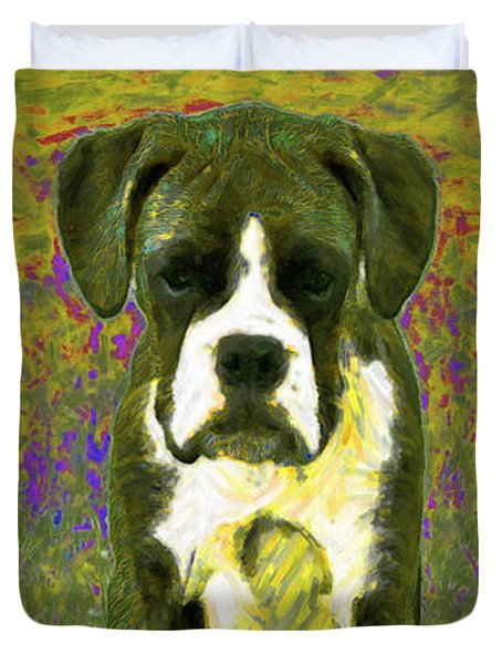 Boxer Three 20130126 Duvet Cover by Wingsdomain Art and Photography