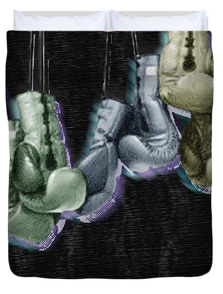 Boxing Gloves Duvet Cover by Tony Rubino