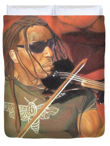 Boyd Tinsley at Red Rocks Duvet Cover by Joshua Morton