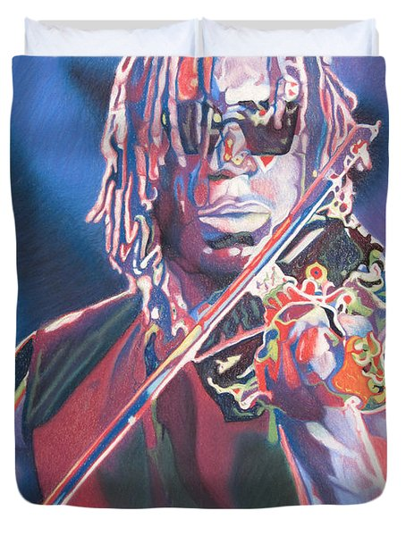 Boyd Tinsley Colorful Full Band Series Duvet Cover by Joshua Morton