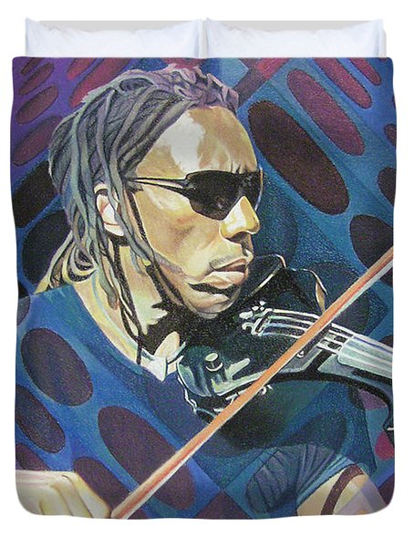 Boyd Tinsley Pop-op Series Duvet Cover by Joshua Morton