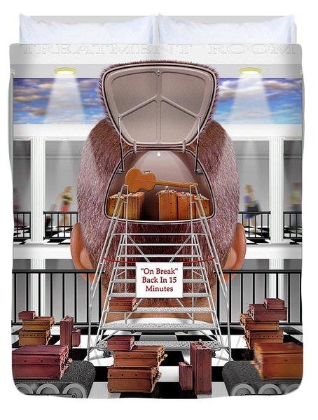 Brain Luggage Duvet Cover by Mike McGlothlen