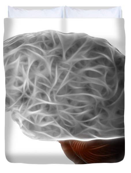 Brain Duvet Cover by Michal Boubin