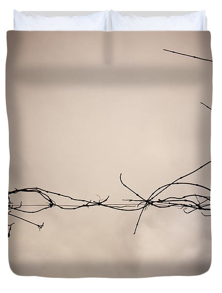 Branches Against A Winter Sky Duvet Cover by Vivienne Gucwa