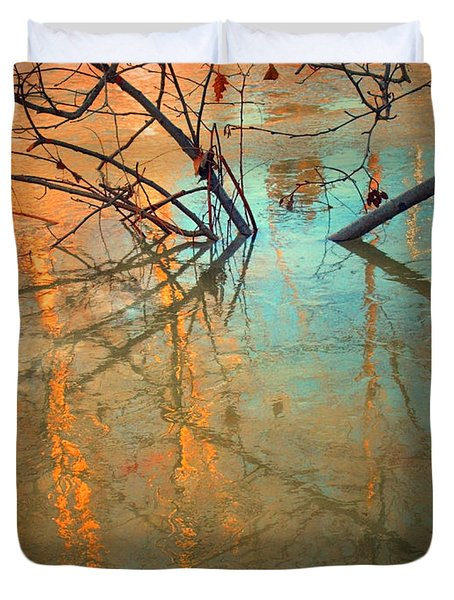 Branches And Ice Duvet Cover by Tara Turner