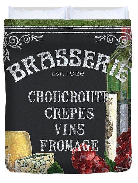 Brasserie Paris Duvet Cover by Debbie DeWitt