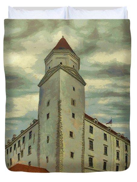 Bratislava Castle Duvet Cover by Jeff Kolker