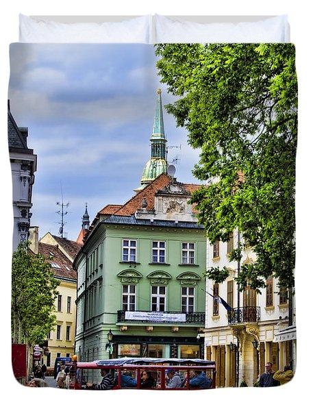 Bratislava Town Square Duvet Cover by Jon Berghoff