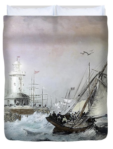 Braving The Storm Duvet Cover by Lianne Schneider